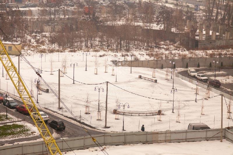 ЖК Лесной квартал зона отдыха декабрь  фото