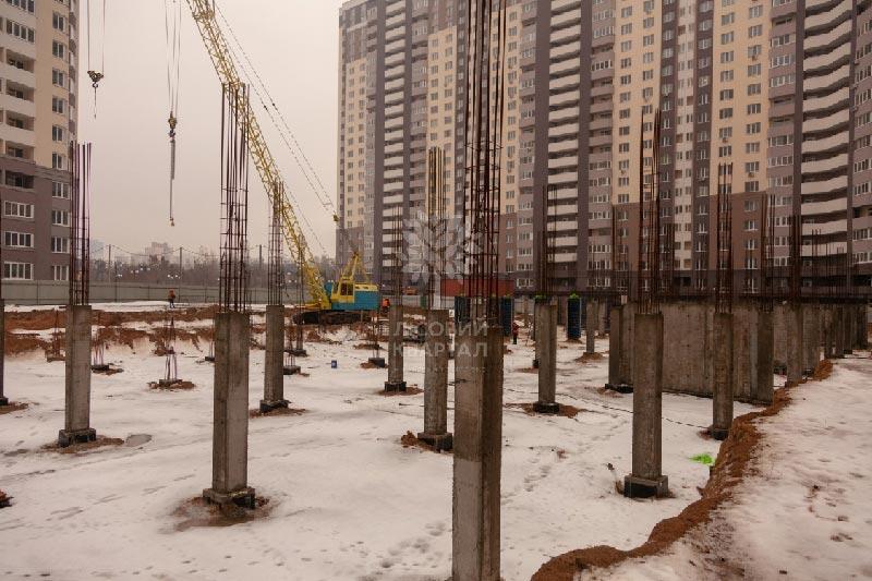 ЖК Лесной квартал парковка декабрь  фото