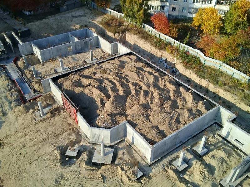 Школа №10 Бровары: Ход строительства #2