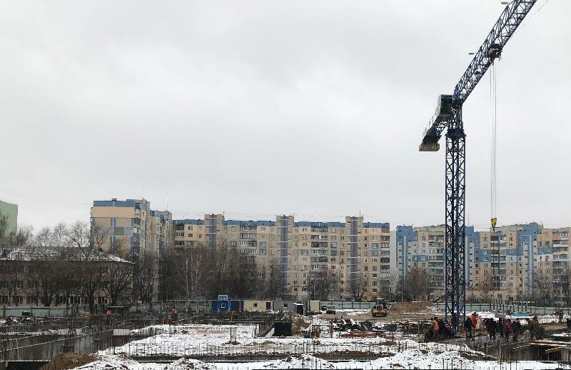 Школа №10 Бровары: Ход строительства январь 2020 #1
