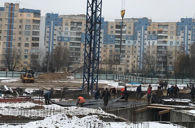 Школа №10 Бровары: Ход строительства январь 2020 #2