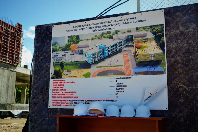 Генеральный план строительства Школы №10