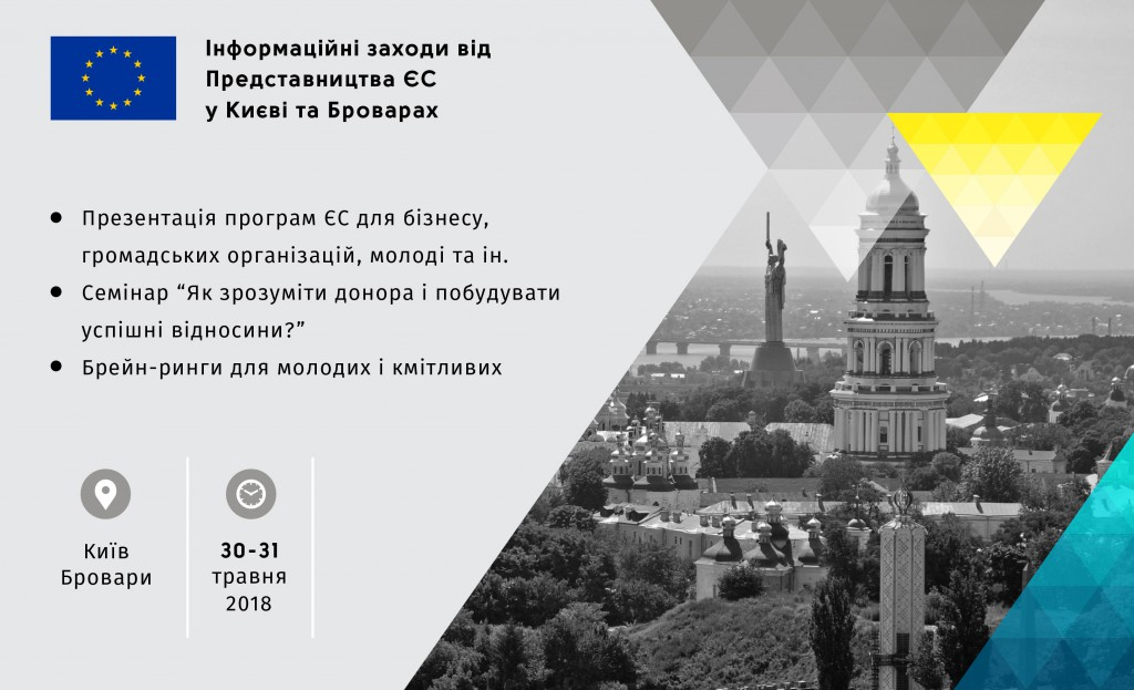 Представительство ЕС в Украине провело в Броварах мероприятия сотрудничества и брейн-ринг для ученичества